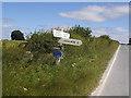 SE8456 : Signpost, High Callis Wold by Stephen Craven