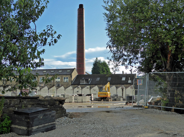 The remains of Crow Nest Mill, Barnoldswick