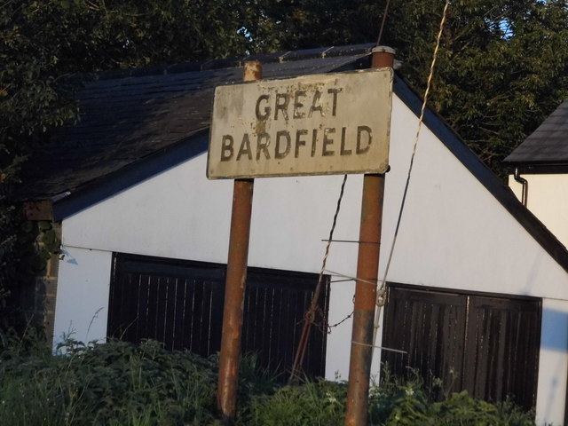 Village entry sign for Great Bardfield