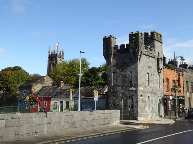 Tower at the east end of Thomond Bridge