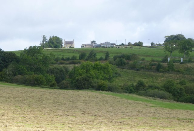 Looking across the valley to Kirkwhelpington