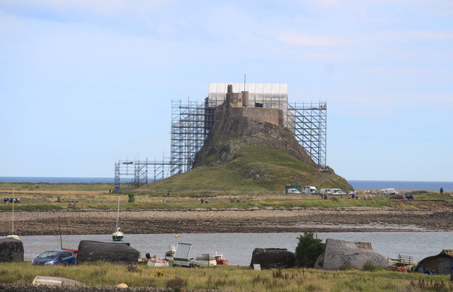 Lindisfarne Castle Under Scaffolding
