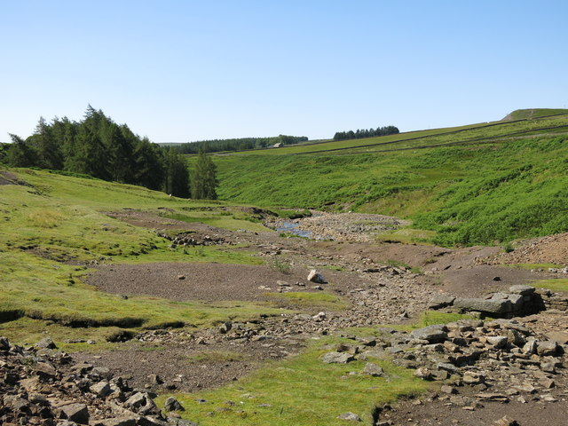 Former lead mining area by Hudeshope Beck below the Skears Hushes