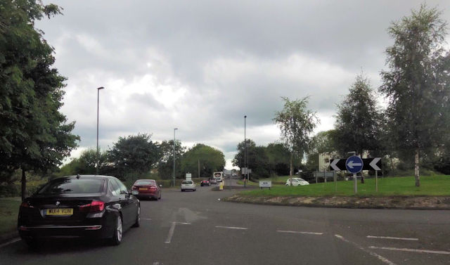 Roundabout at Odd Down park and ride