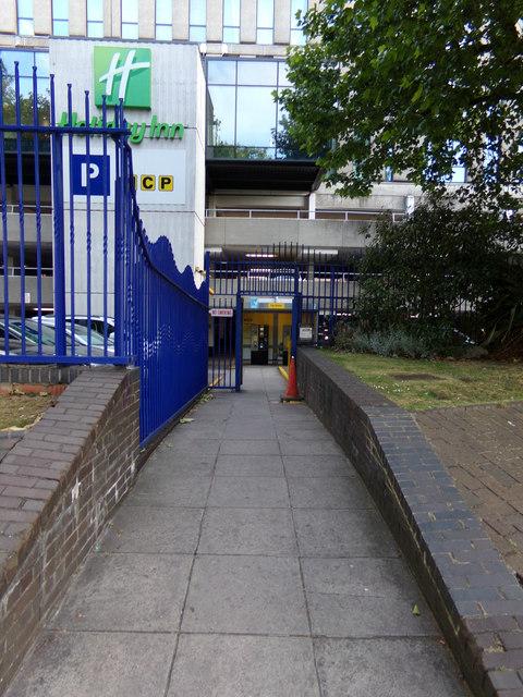 Pedestrian Entrance to St.James Barton NCP Car Park