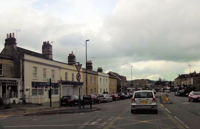 Junction of Bloomfield road and the A367 at Bear Flat