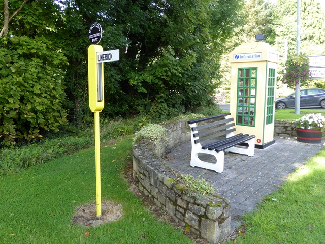 Hitching post and old telephone box, Birdhill