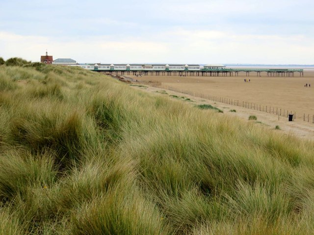 Sand dunes and St Anne's Pier