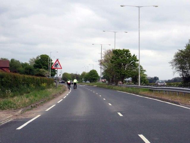 Preston New Road heading east