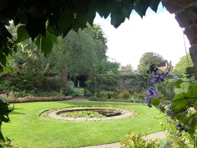 Pond in Peckover House gardens