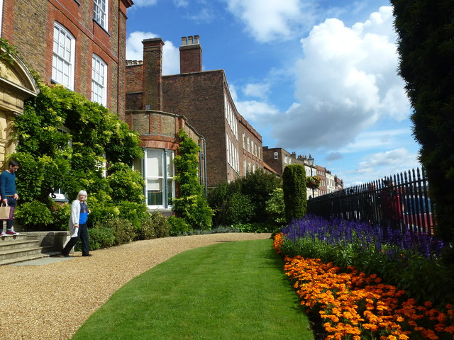 Leaving Peckover House in Wisbech