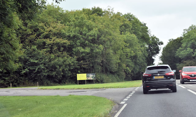 Entrance to Dyrham Deer Park from A46