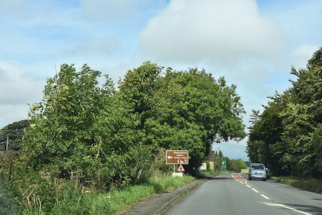 Approaching Dunkirk crossroads on A46