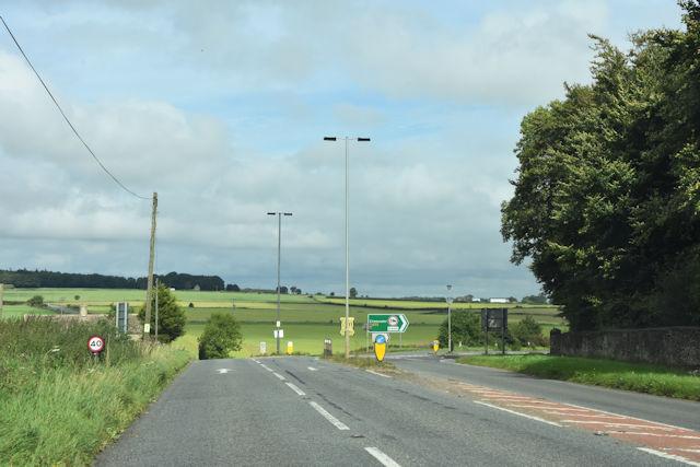 Road junction at Dunkirk Cottages