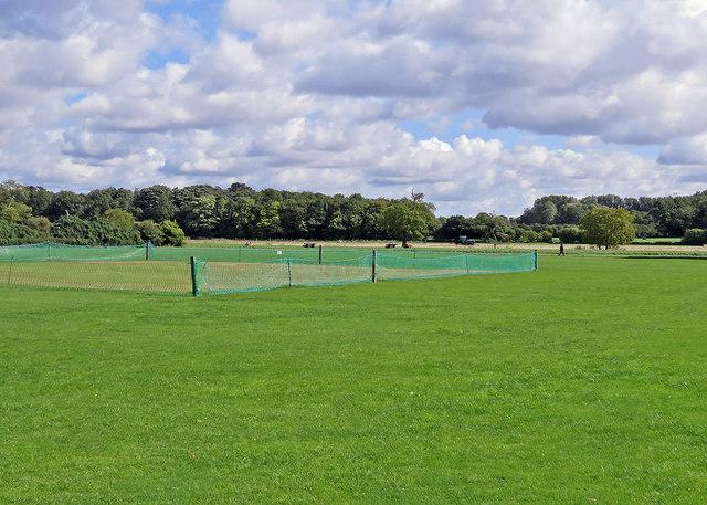 Grantchester cricket field in September