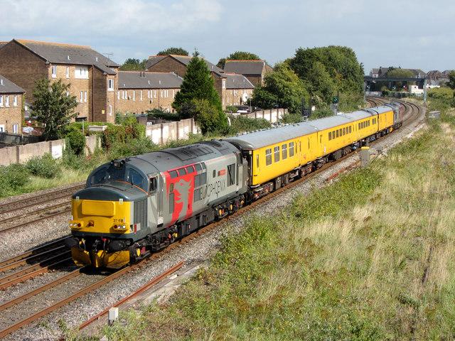 Network Rail test train in Cardiff