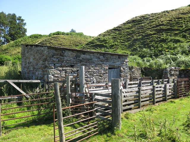 Sheep pens below the Skears Hushes