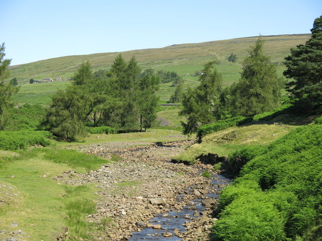 The valley of Hudeshope Beck north of the Skears Hushes