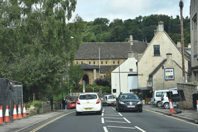 A46 running into Nailsworth