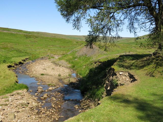Bank erosion on Hudeshope Beck