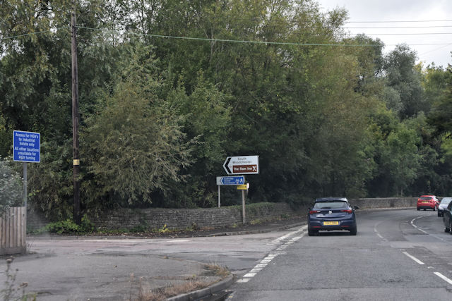 A46 junction with Station road
