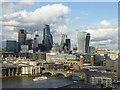 TQ3280 : City of London tower blocks viewed from the top of Tate Modern's Blavatnik Building : Week 36