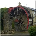SE1466 : Water wheel at Foster Beck Mill by Alan Murray-Rust