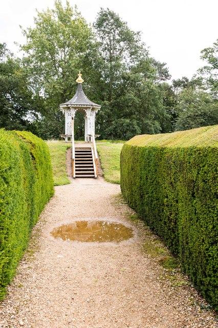 Yew hedge maze