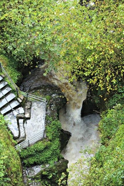 Afon Mynach in full flow