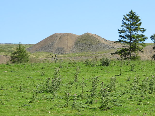 Rough pastures southeast of the Marlbeck mine spoil heaps