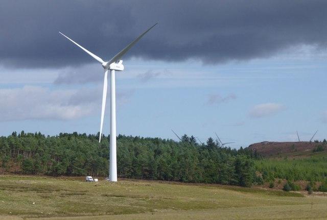 Sick wind turbine