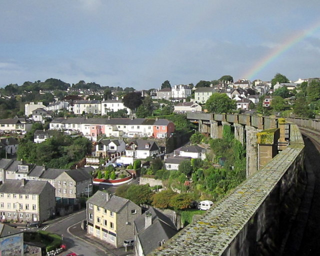 Rainbow Over Saltash Cornwall