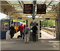 TQ1568 : Electronic displays at Hampton Court railway station by Jaggery