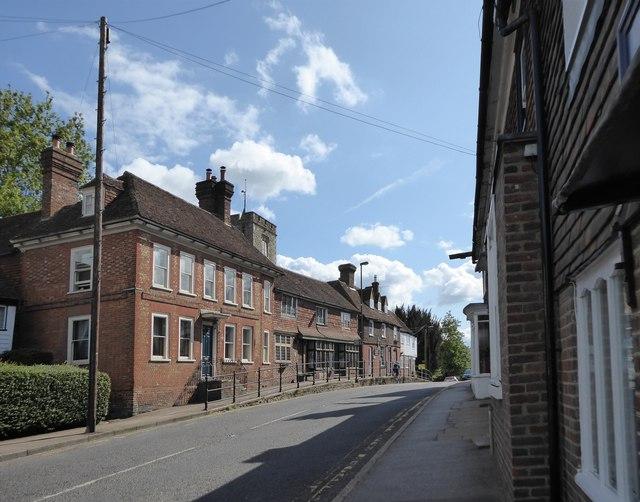 Staplehurst: the High Street - view south