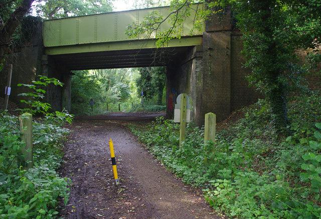 Bridge over dismantled railway