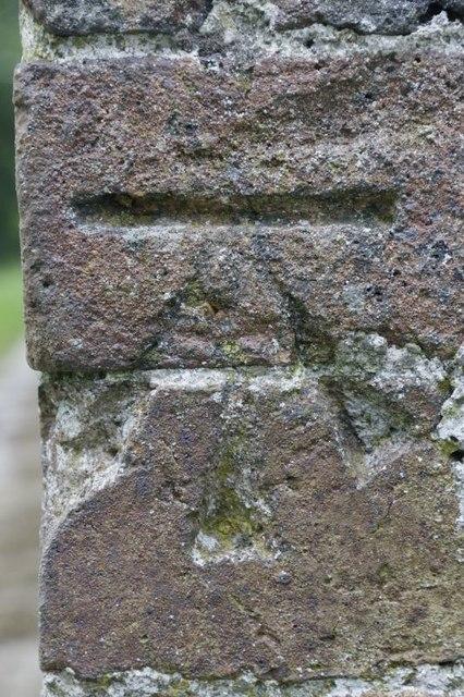 Benchmark on St Michaels Llanfihangel Helygen