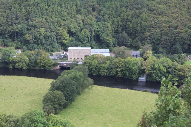 Power station near Rheidol Falls