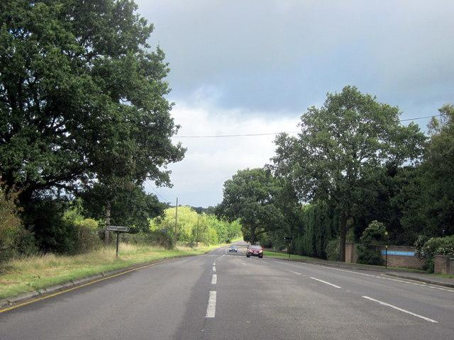 A453 Tamworth Road Passing Crematorium