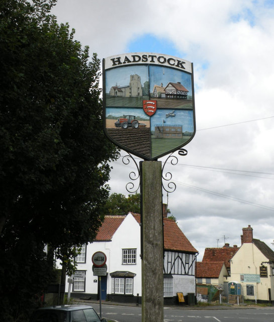 Hadstock Village Sign