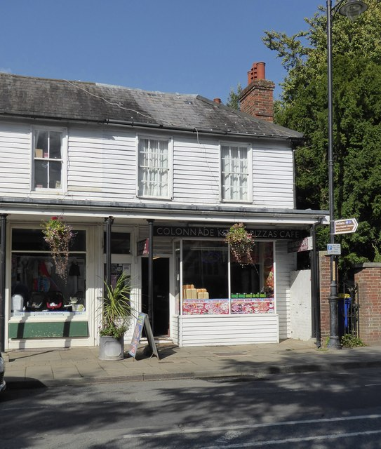 Hawkhurst: shops along the Colonnade