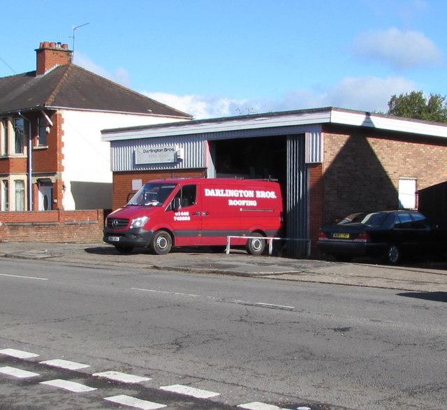Darlington Bros premises and van, Broad Street, Leckwith, Cardiff