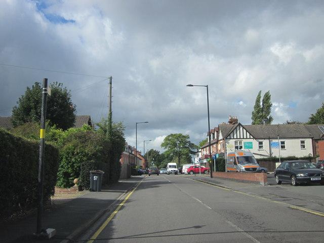 Walsall Road Four Oaks Approaching Shops
