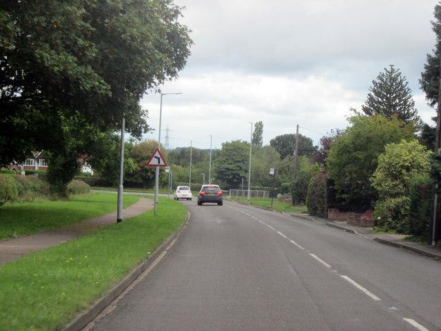 Bend on Walsall Road Littler Aston