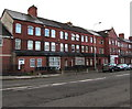 ST1775 : Three-storey houses, Penarth Road, Cardiff by Jaggery