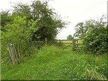 SP1566 : Gate by the Heart of England Way by Derek Harper