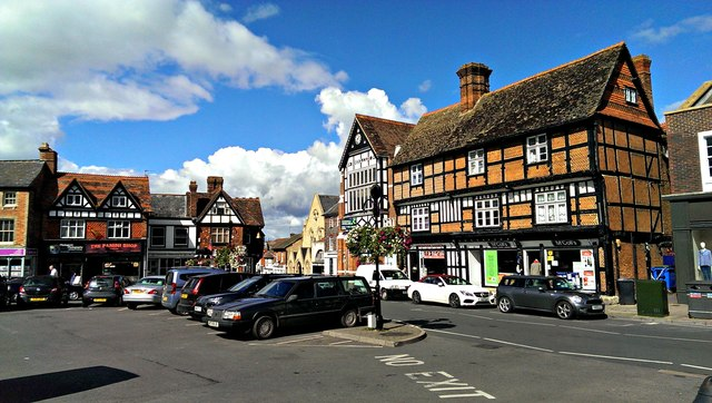 View west along Market Place, Wantage
