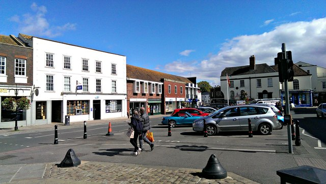 View east along Market Place, Wantage