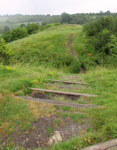 Steps and path, Beaudesert Castle