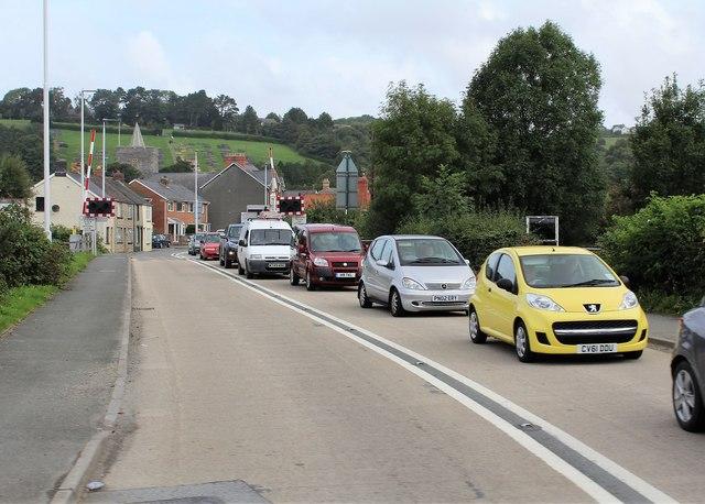 Level crossing at Llanbadarn