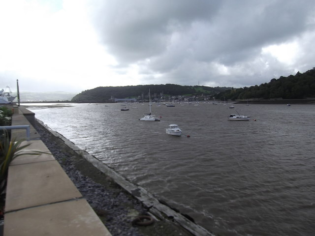 View towards Conwy from Deganwy Quay Marina